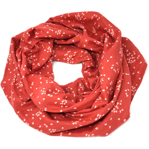 Year-Round Infinity Scarf Red Petals