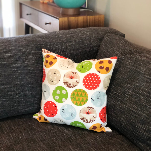 *Limited Edition* Throw Pillow Cover Charley Harper Mod Ornaments