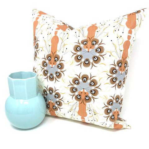 Throw Pillow Cover Charley Harper Quail Safe