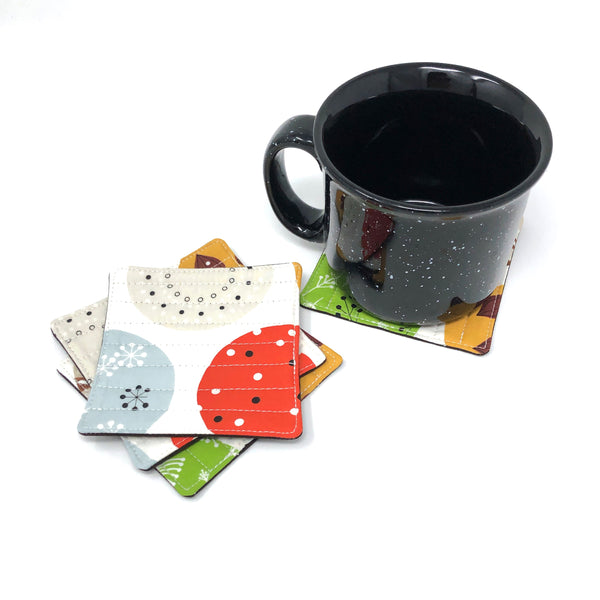 Coasters Set of 4 Charley Harper Mod Ornaments