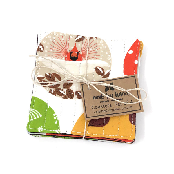 *Limited Edition* Coasters Set of 4 Charley Harper Mod Ornaments