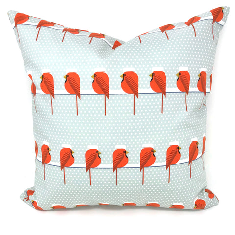 Throw Pillow Cover Charley Harper Cool Cardinals