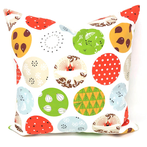 Throw Pillow Cover Charley Harper Mod Ornaments