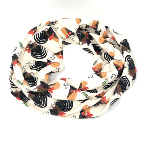 Infinity Scarf Charley Harper Crawling Tale