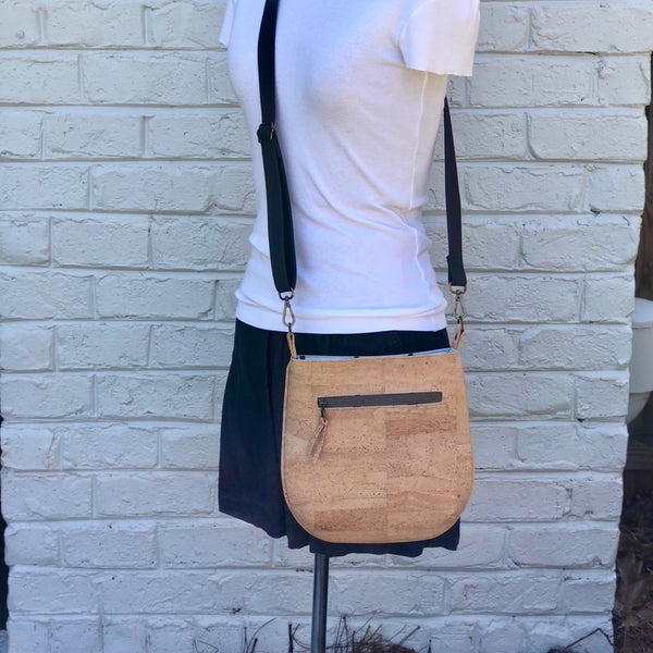 Sustainable Cork Small Crossbody - Customize Your Lining!
