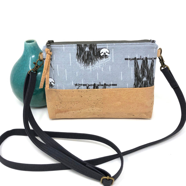 Organic & Cork Mini Crossbody - Charley Harper Prints