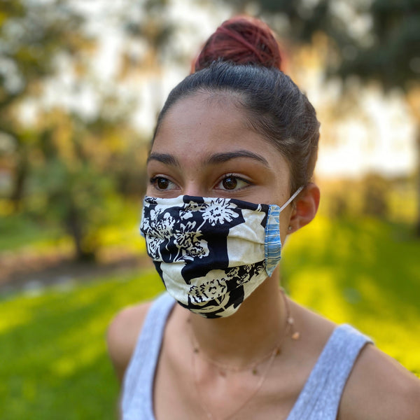 Organic Cotton Face Mask with Nose Adjustor & Filter Pocket - Variety Prints