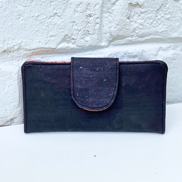 Organizer Wallet Sustainable Black Cork