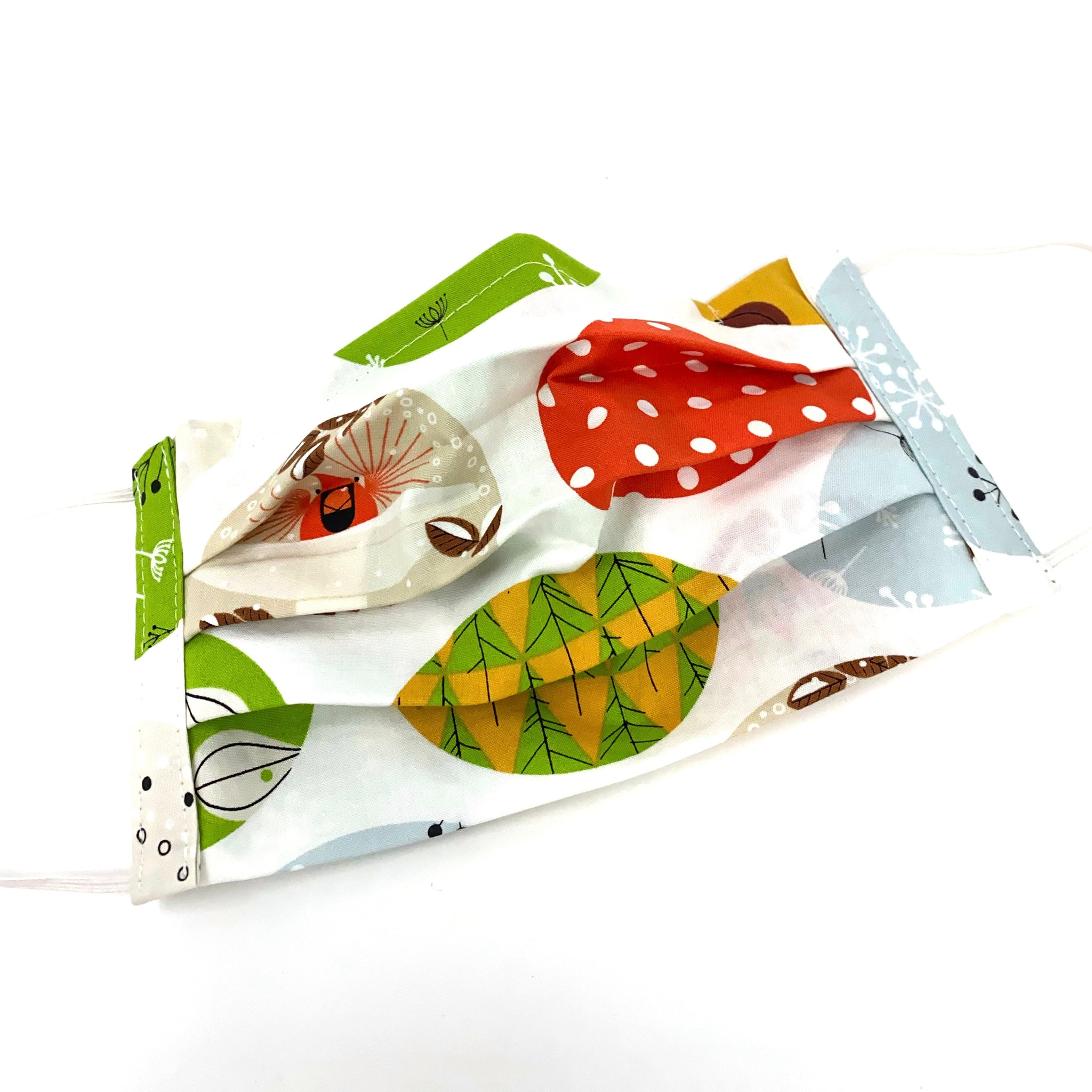 Organic Cotton Face Mask - Charley Harper Mod Ornaments