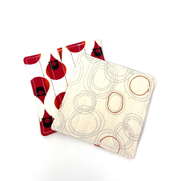 Coasters Set of 4 Charley Harper Cardinal Stagger