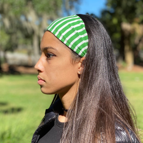 Organic Headband Pink Stripes