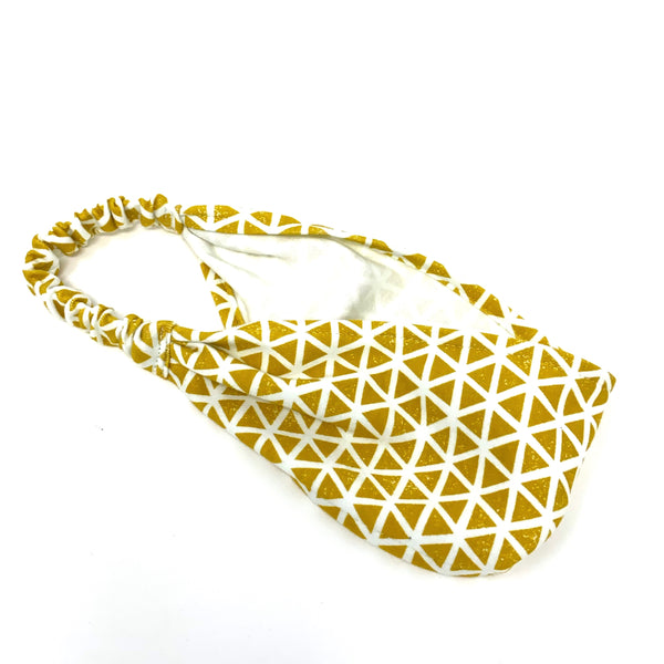 Organic Headband Citron Triangles