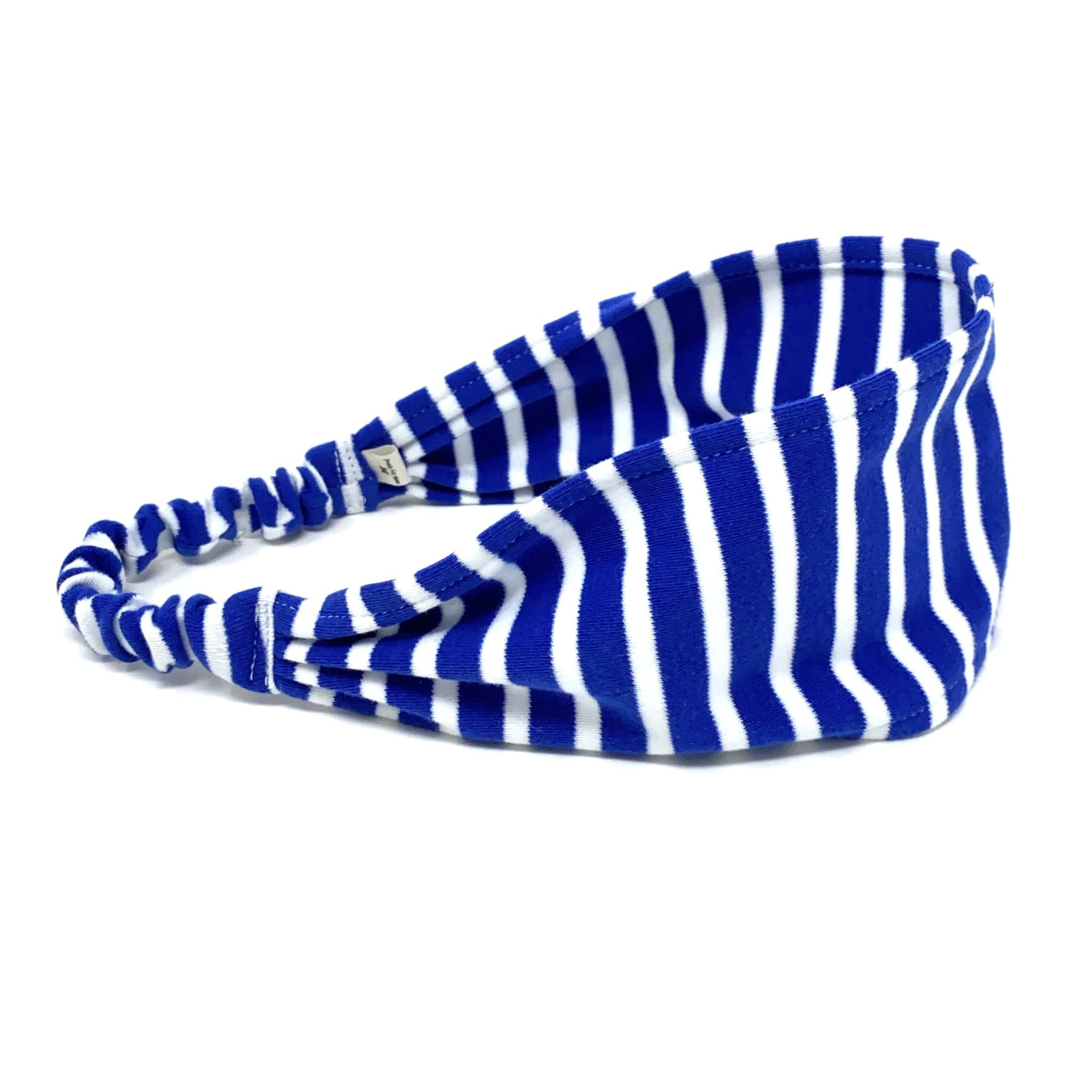 Organic Headband Blue Stripes