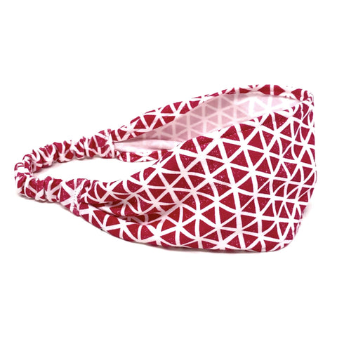 Organic Headband Pink Triangles