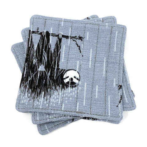 Coasters Set of 4 Charley Harper Mod Sloth