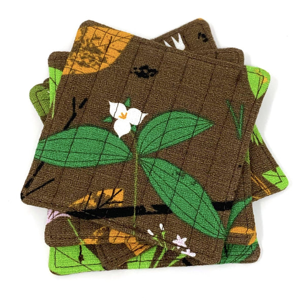 Coasters Set of 4 Charley Harper Spring Wildflowers