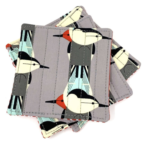 Coasters Set of 4 Charley Harper Upside Downside