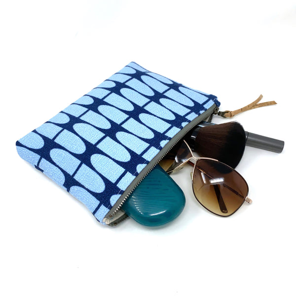 Slim Zip Pouch Blue Half Life - 3 Sizes