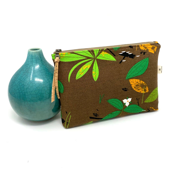 Slim Zip Pouch Charley Harper Spring Wildflowers - 3 Sizes