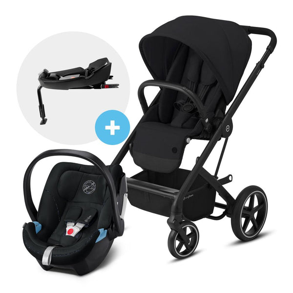 Travel System Balios S Lux BLK Negro + Aton 5 + Base