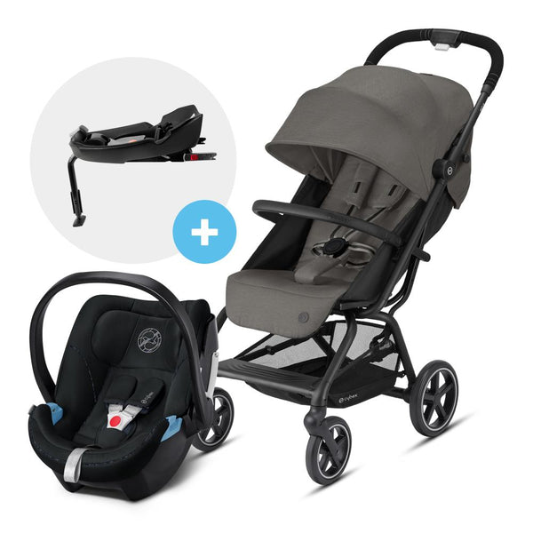 Travel System Eezy S V2 Plus Gris + Aton5 + Base