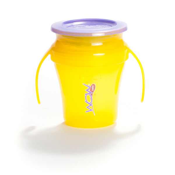 Vaso antiderrame baby Wow juicy amarillo
