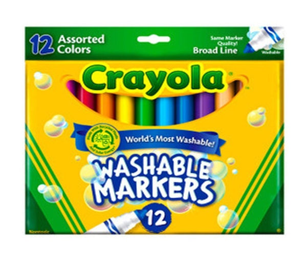 Marcadores Crayola ultra lavables Color Max (12)