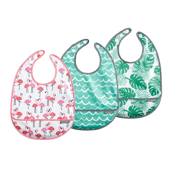 Babero 3-Pack Flamingos