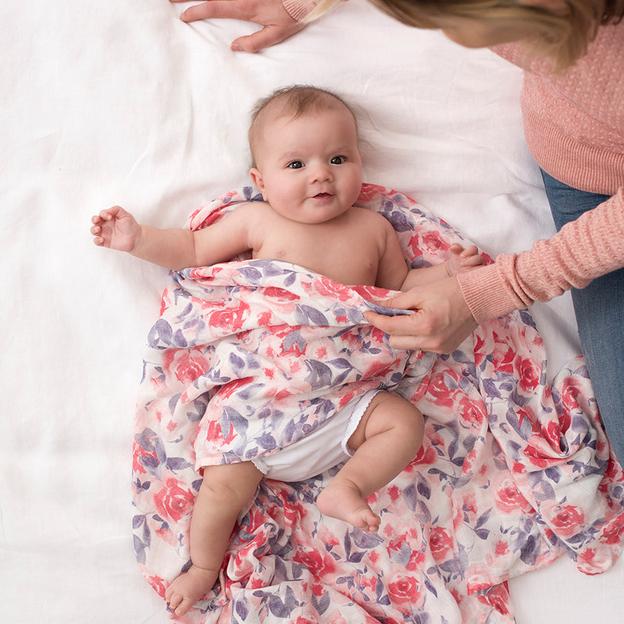 Swaddle de Bamboo Roses