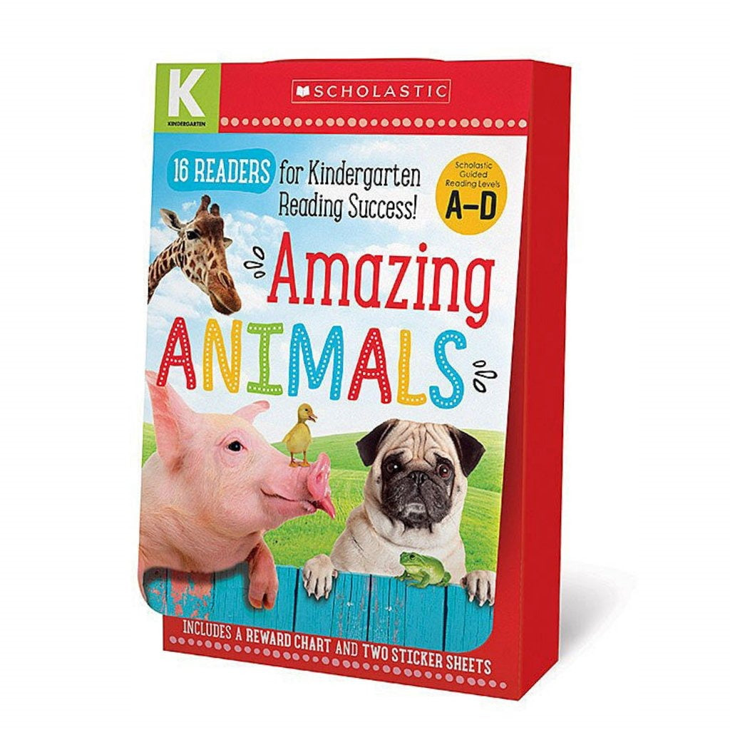 Set de libros Amazing Animals: Lectores Kindergarten A-D