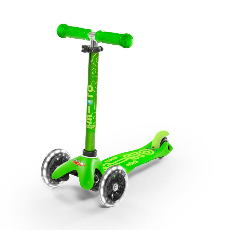 Scooter Micro Mini Deluxe Led Verde