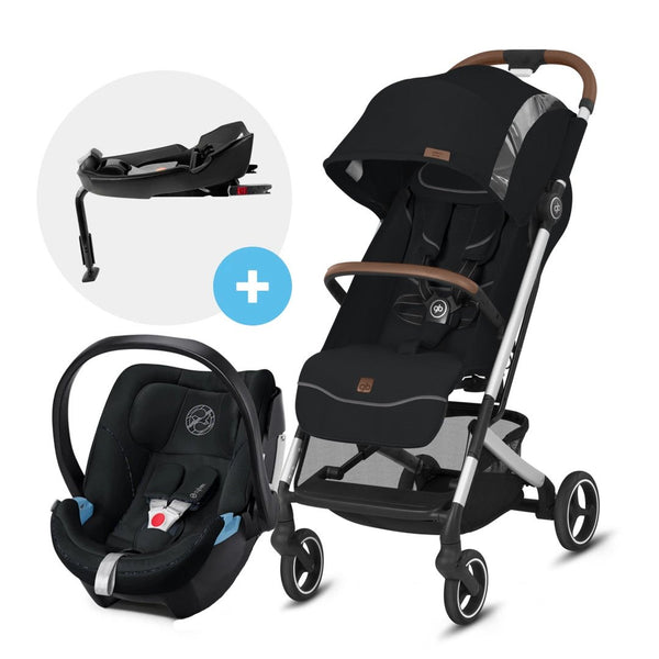 Travel System QBIT PLUS All City Fashion Velvet Black + ATON5 + BASE