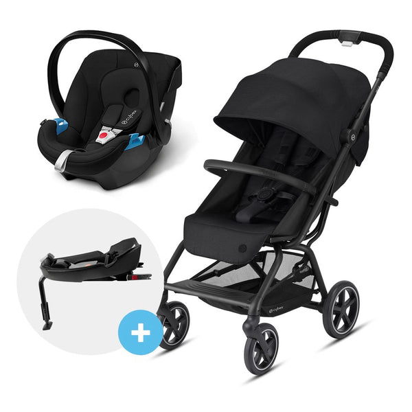Travel System Eezy S V2 Plus Negro + Aton + Base