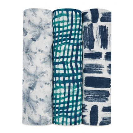 Swaddle de Bamboo 3 Pack - Seaport