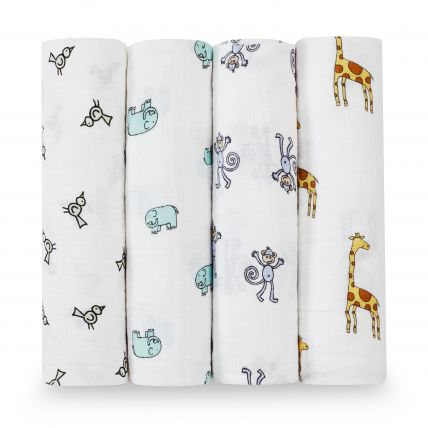 Swaddle 4 pack - Jungle Jam
