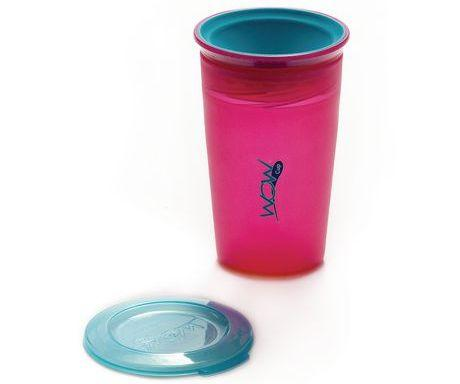 Vaso antiderrame juicy rosado
