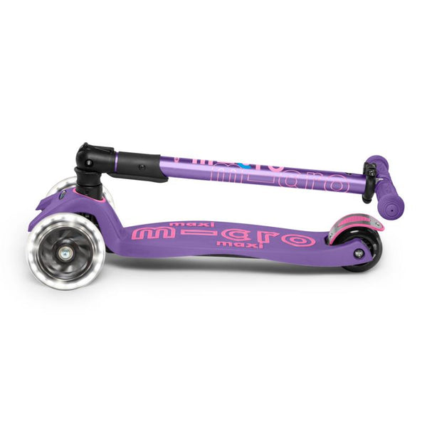 Scooter Micro Maxi Deluxe Plegable LED Morado