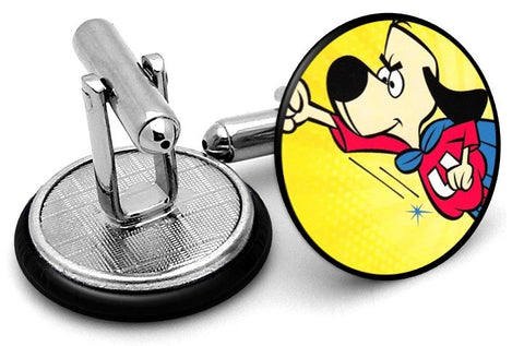 Underdog Cartoon Cufflinks - Angled View