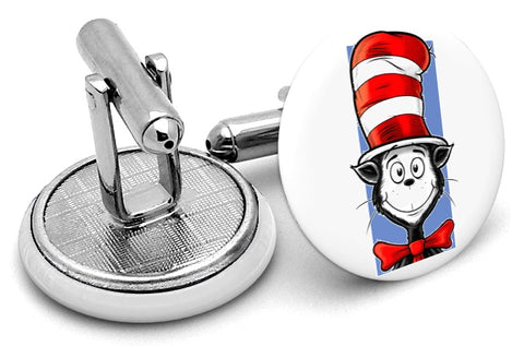 Dr Seuss Cat Hat Cufflinks