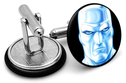 Iceman Portrait Cufflinks - Angled View