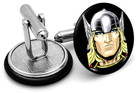 Thor Portrait Cufflinks - Angled View