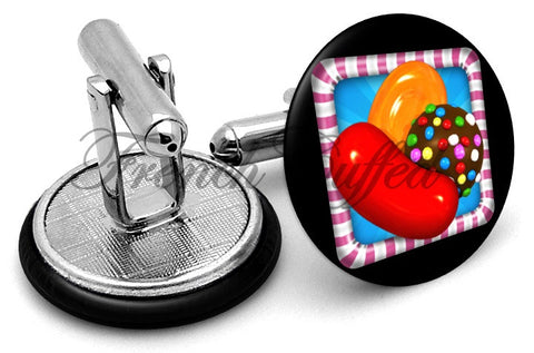 Candy Crush Cufflinks - Angled View