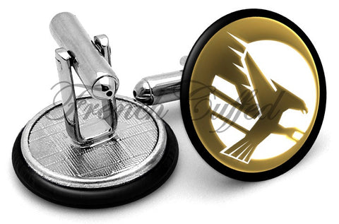Command Conquer Global Defense Cufflinks - Angled View