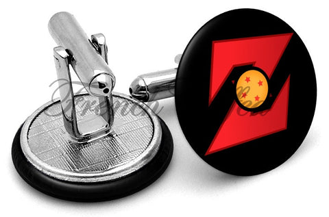 Dragon Ball Z Logo Cufflinks - Angled View
