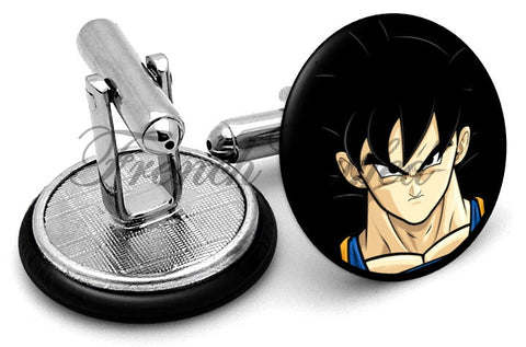 Dragon Ball Goku Cufflinks - Angled View