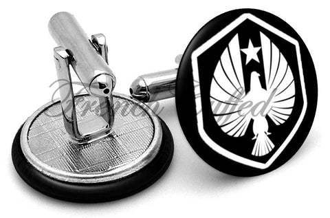 Pan Pacific Defense Corps Cufflinks - Angled View