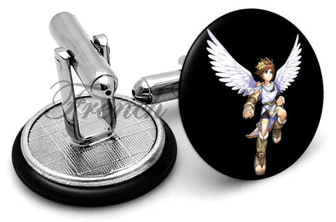 Kid Icarus Uprising Pit Cufflinks - Angled View