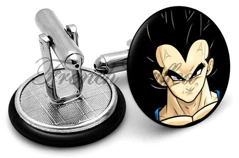 Dragon Ball Vegeta Cufflinks - Angled View