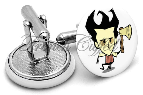 Don't Starve Wilson Cufflinks - Angled View