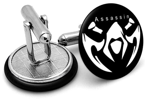 League Legends Assassin Cufflinks - Angled View